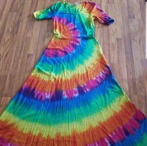 Lularoe Ana custom tie dye size XL